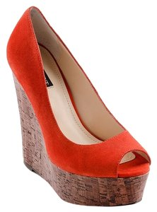 Shoemint Nwt Orange Wedges
