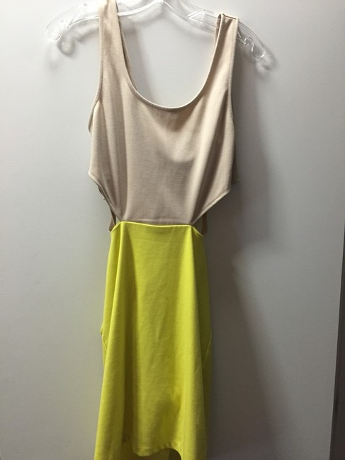 Lucca Couture short dress Tan/ Yellow on Tradesy