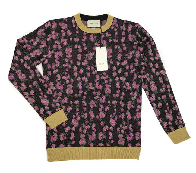 Item - New 494357 Women's Floral Jacquard Metallic S Multicolor Sweater