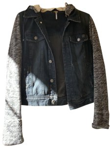 Free People black and grey Womens Jean Jacket