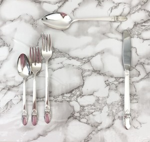 Silver Art Deco First Love Serverware