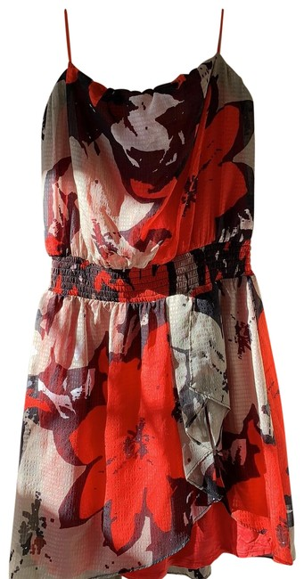 Item - Red and Black Multi Color Short Cocktail Dress Size 6 (S)