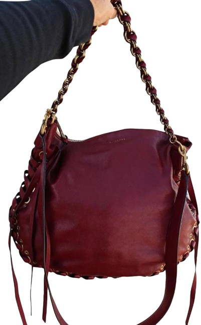 Item - Laced Nomad Bordeaux Red Leather Hobo Bag