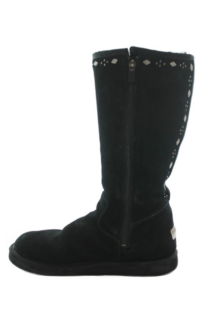 Item - Black Joplin Suede Stud Embellished Boots/Booties Size US 9 Regular (M, B)