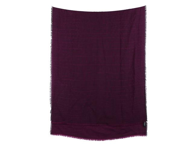 Item - Purple Cashmere Silk Croc Stole Scarf/Wrap