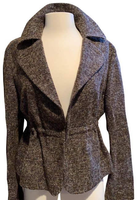 Item - Chocolate Brown and Beige 02 7582 01 Jacket Size 10 (M)