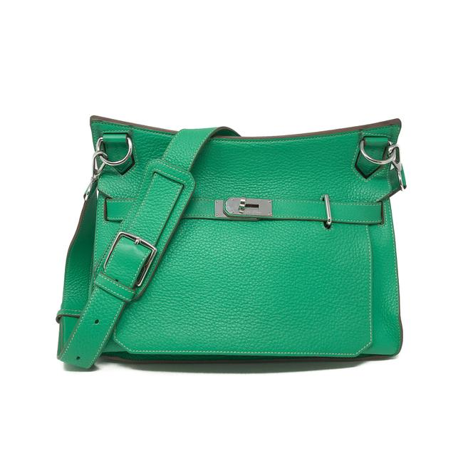 Item - Jypsiere Clemence 34 Green Taurillon Leather Messenger Bag