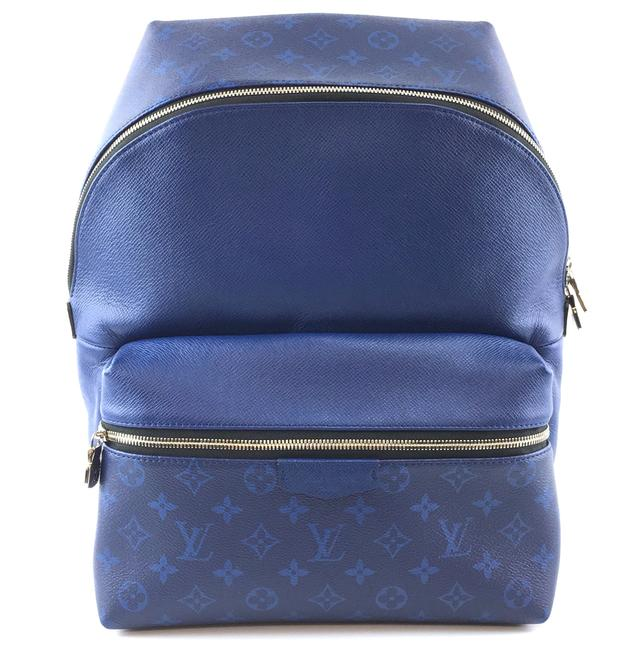 Item - #35414 Discovery Pacific Blue Monogram Canvas and Taiga Leather Backpack