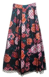 Eliza J Maxi Skirt Black Green