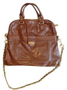 Hype Leather Satchel in Latte