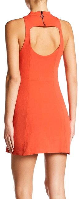Free People Red Kitty Kat Bodycon Halter Mini Short Night Out Dress Size 4 (S) Free People Red Kitty Kat Bodycon Halter Mini Short Night Out Dress Size 4 (S) Image 1