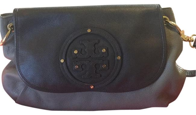 Item - Two Tone Light and Dark Taupe Leather Shoulder Bag