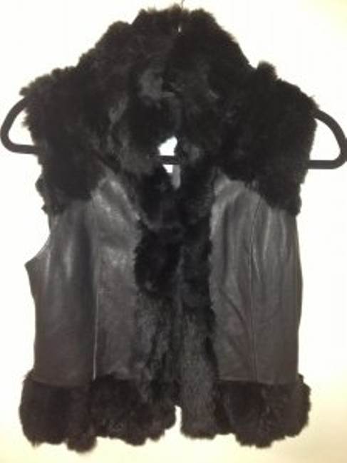 Preload https://item1.tradesy.com/images/marciano-black-rabbit-fur-leather-vest-size-2-xs-26740-0-0.jpg?width=400&height=650