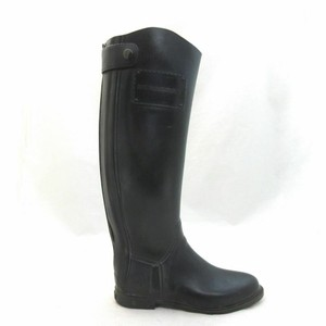 Burberry Water-resistant Water-repellant Winter Rubber Knee High Black Boots