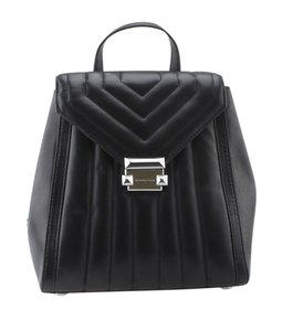 Michael Kors Michael Kors Whitney Quilted Small Black Leather Backpack (167577)