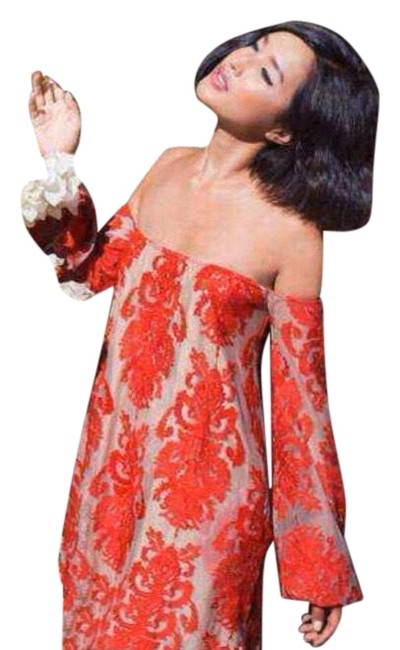 Item - Red San Marcos Lace Off Shoulder Short Casual Dress Size 4 (S)