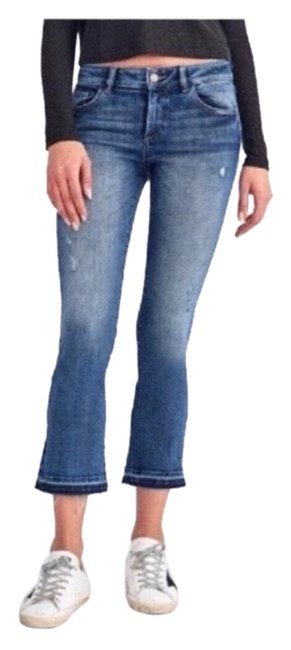 Item - Bluy Distressed Alma Lara Cropped Released Hem High Rise Flare Leg Jeans Size 0 (XS, 25)