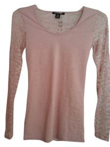 Bozzolo Rose Pink New Purchased Online Sheer Sleeves Sheer Sweater