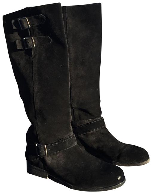 Item - Black Tall Suede Boots/Booties Size US 9 Regular (M, B)