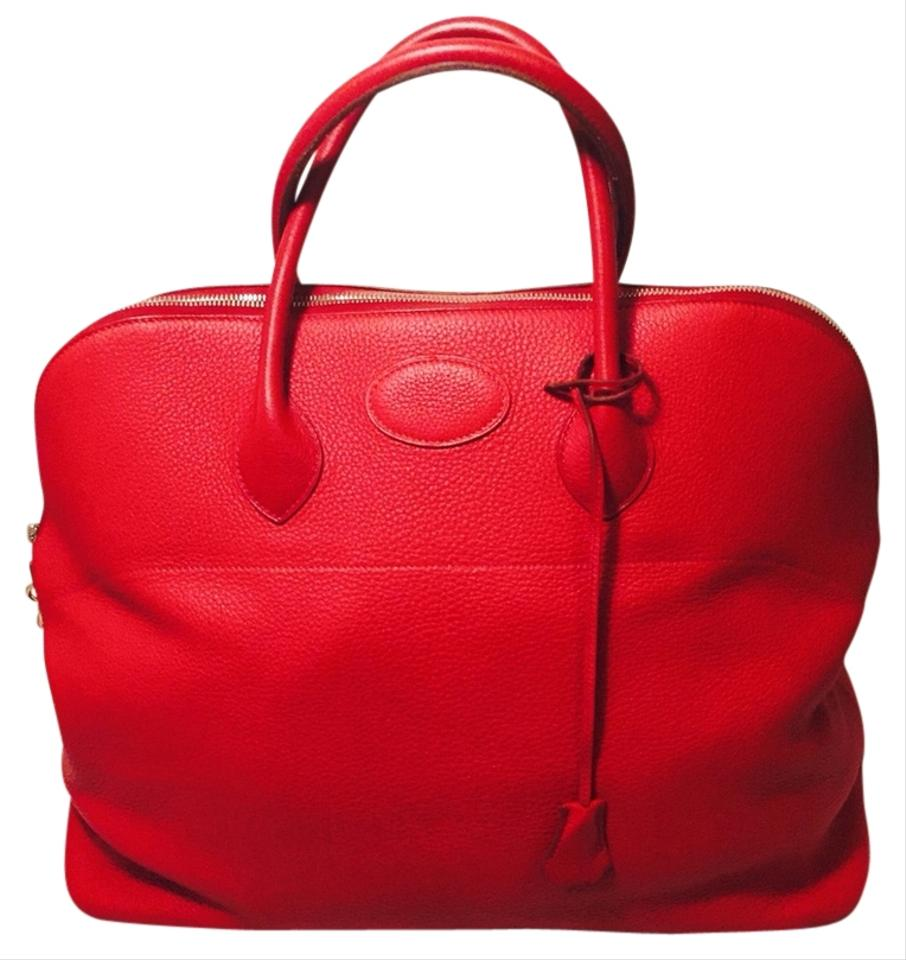 f118d00fd2f2 Hermès Bolide Bolide Leather Luxury Exclusive Limited Edition red Travel Bag  Image 0 ...