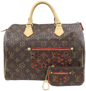 Louis Vuitton Lv Perforated Monogram Speedy 30 Tote in Brown