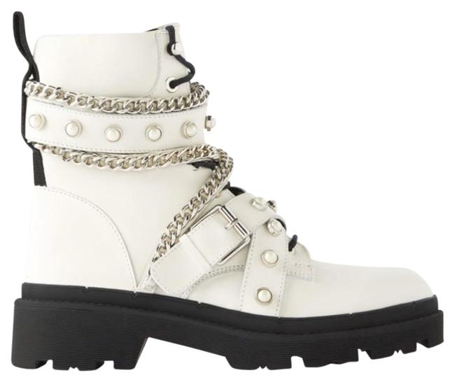 Zara White Boots/Booties Size US 11