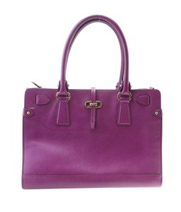 Salvatore Ferragamo Leather Satchel in Purple