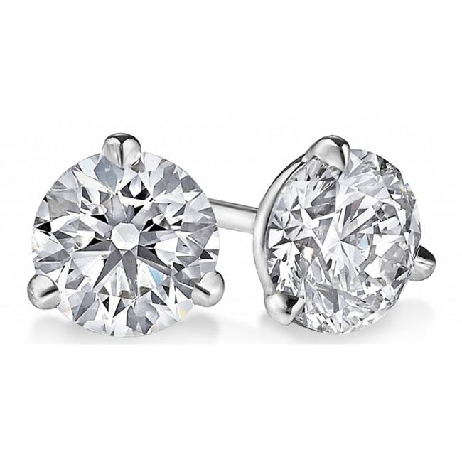Item - White 1.60 Ct. Round Cut Cubic Zirconia Sterling Silver Martini Stud Earrings