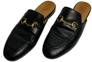 Gucci Princetown Leather Black Mules