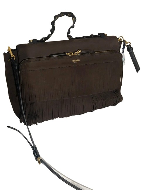 Item - Fringe Chocolate Brown Suede Leather Cross Body Bag