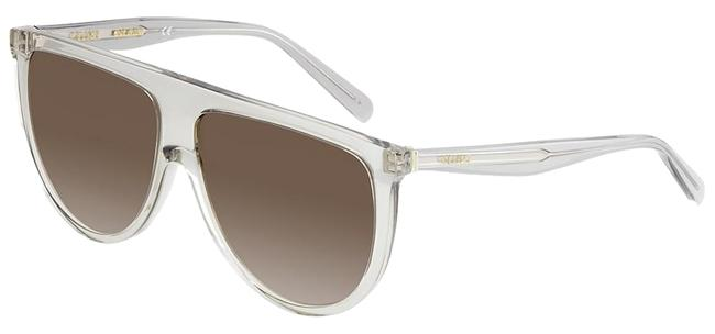 Céline Transparent Gray New 41435/S 0rdn Thin Shadow Clear Oversized Sunglasses Céline Transparent Gray New 41435/S 0rdn Thin Shadow Clear Oversized Sunglasses Image 1