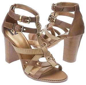 8b70a3ea8766 R2 Faux Leather Studded beige brown Sandals