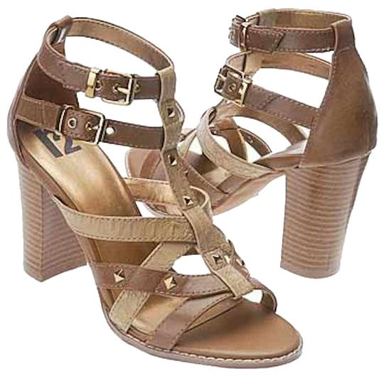 R2 Faux Leather Studded beige/brown Sandals