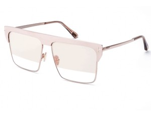 Tom Ford TOM FORD FT0706-33Z ROSE GOLD PLATED / CLEAR ROSE GOLD PLATED FLASH