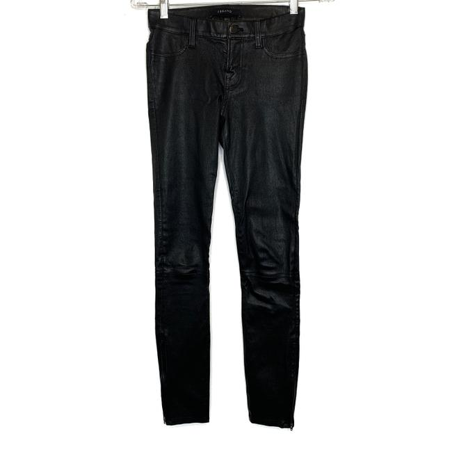 Item - Black L8001 Leather Pants In Skinny Jeans Size 24 (0, XS)