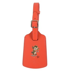 Coach Limited Edition GARY BASEMAN Leather Luggage Tag Holder
