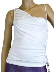 Gucci Sleeveless W/Lace-up Design Off White Halter Top