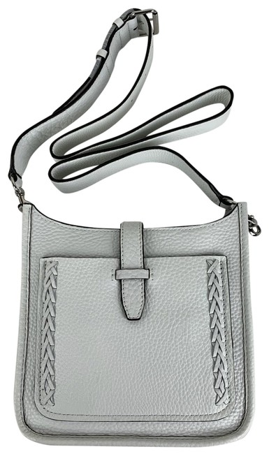 Item - New Whipstich Feed White Leather Cross Body Bag