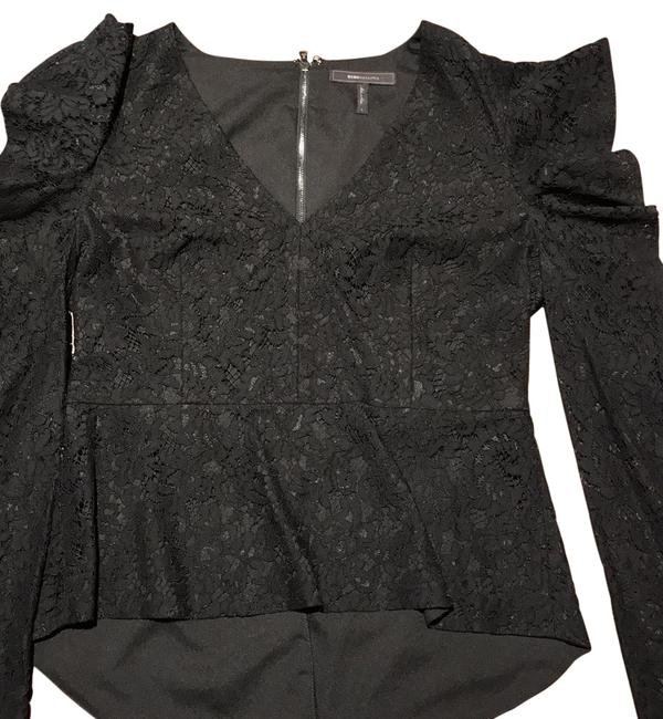 Item - Lace Peplum Black Top
