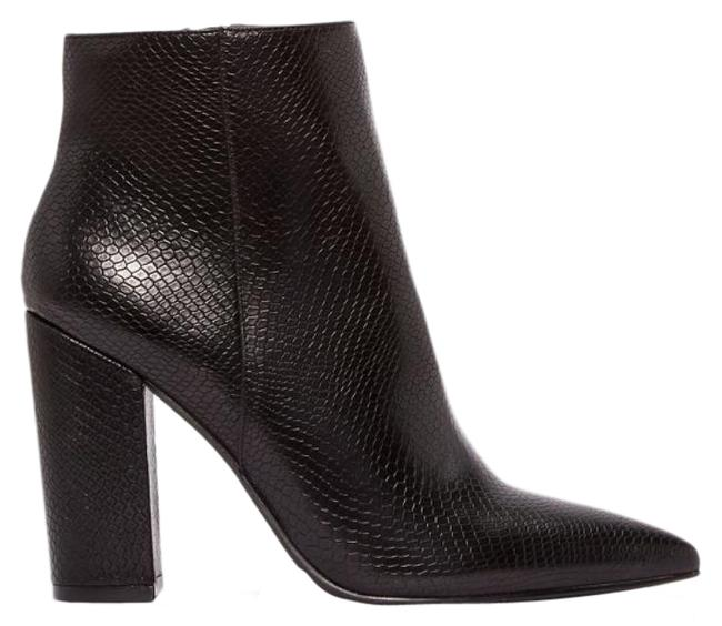 Item - Black Snake Faux Leather Heel Boots/Booties Size US 9 Narrow (Aa, N)
