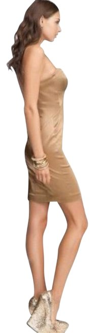 Item - Gold Corset Strapless Sweetheart Mini Short Night Out Dress Size 8 (M)