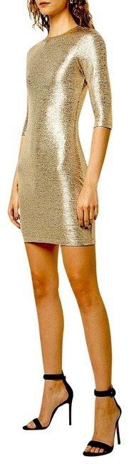 Item - Champagne Gold with Tag Delora Body-con Short Cocktail Dress Size 4 (S)