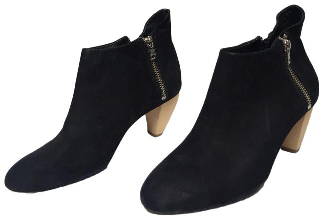 Item - Black Nubuck Suede Wood Heel Boots/Booties Size US 7 Regular (M, B)