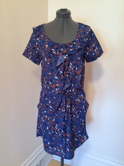 Collective Concepts short dress Blue Pockets Ruffle Short on Tradesy