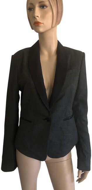 Item - Grey Black Charcoal Blazer Size 8 (M)