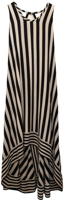 Item - Black and White Verano Long Cocktail Dress Size 0 (XS)