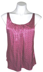 New York & Company Adjustable Straps Xs Top Pink