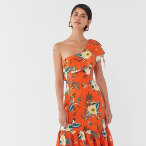 Orange floral Maxi Dress by Urban Outfitters
