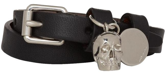 Item - Black and Silver Skull Double-wrap Bracelet