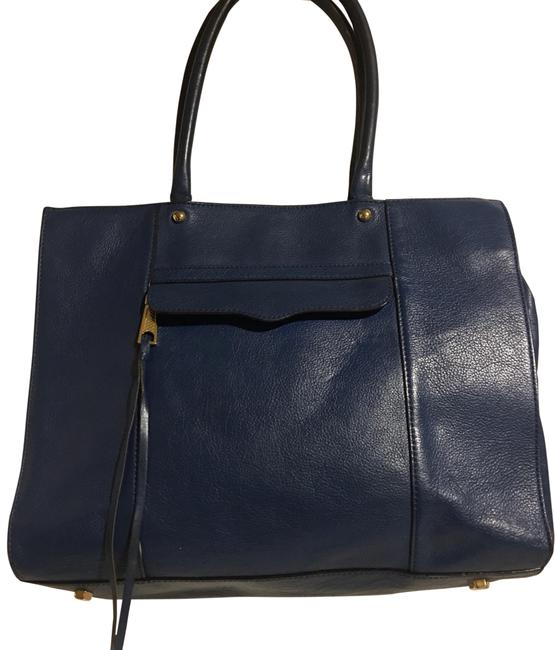 Item - Handbag Navy Blue Leather Tote